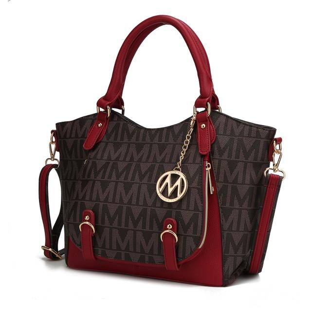 MKF Collection Fula Signature Satchel Bag by Mia K.