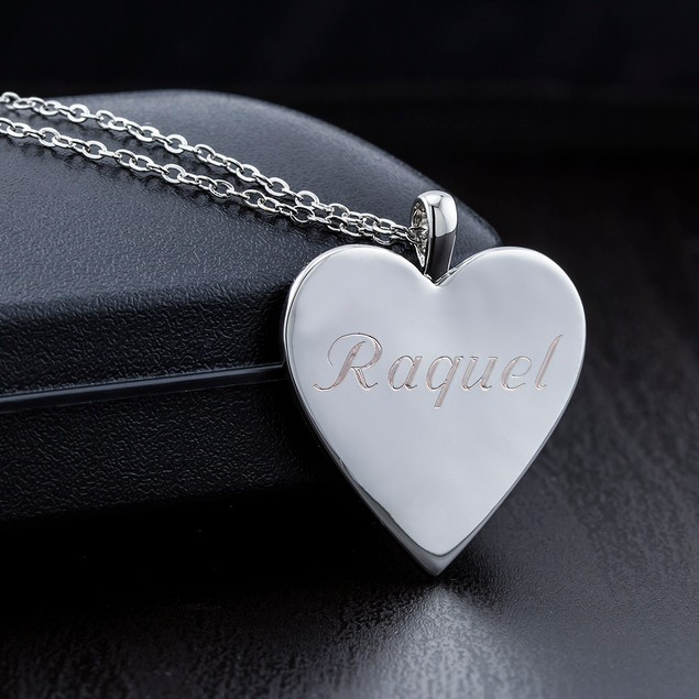 Personalized Heart Necklace - 3 Colors