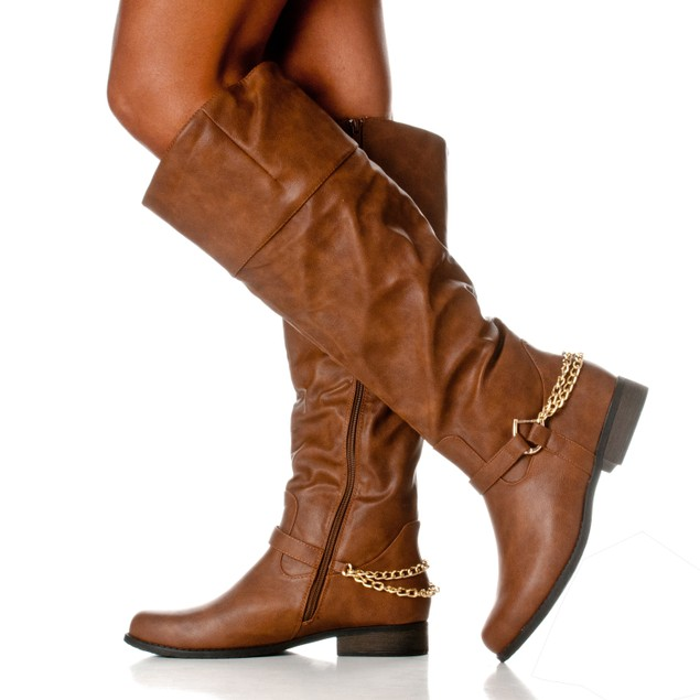 Riverberry Women's 'Emma' Knee-High Chain Riding Boot