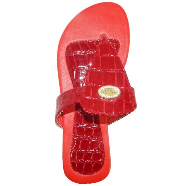 Vecceli Italy Crocodile Embossed Sandals