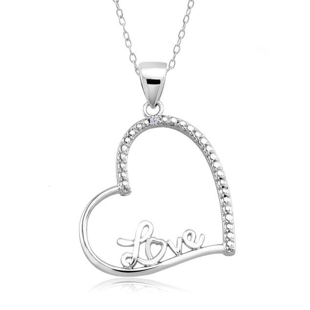 1/10 CTW Diamond Accent Necklace - Fancy Heart