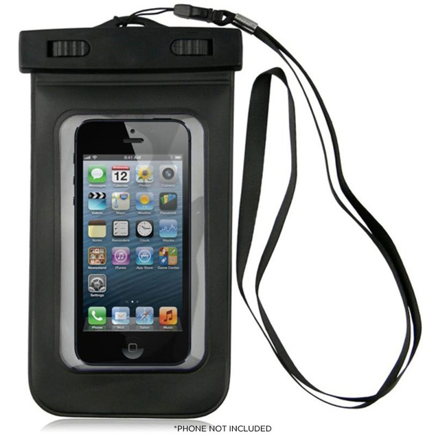 Universal Waterproof Case for Apple iPhone 5, Galaxy S4, HTC One and All Devices Up To 5.5'' - IPX8 Certified Up To 100 Feet!