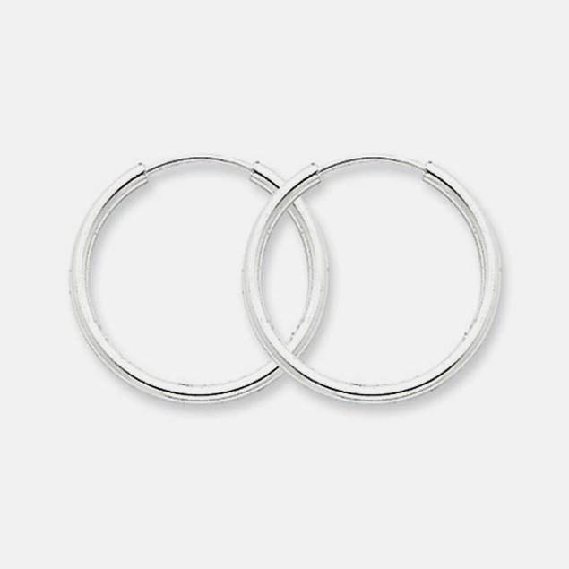 Italian Made-Sterling Silver 20mm Hoop Earrings
