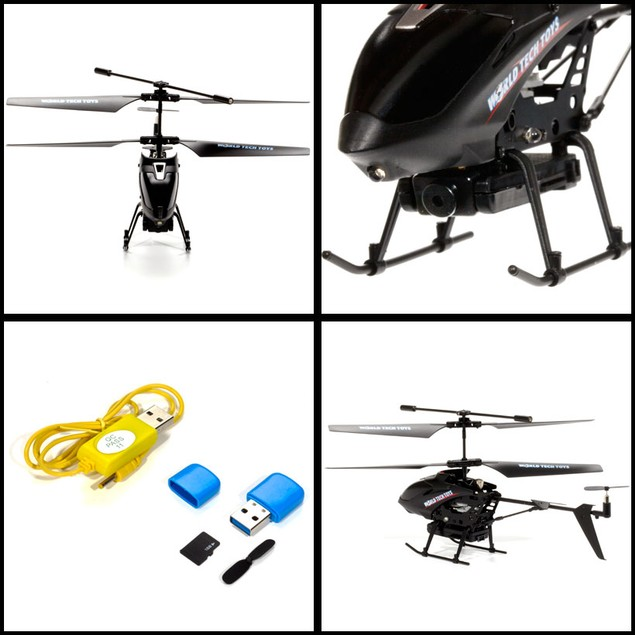 GYRO Metal Nano Spy Copter Video/Picture Camera 3.5CH Electric IR RTF RC Helicopter
