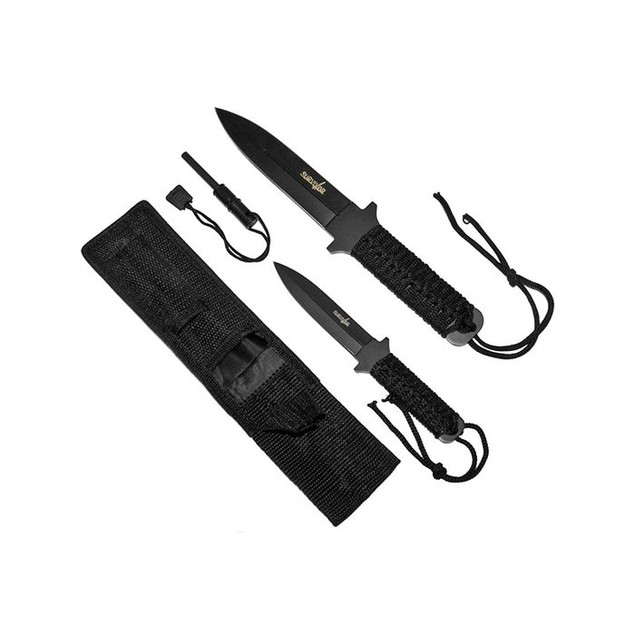 Whetstone Survivor Fire Starter Survival Knife Set