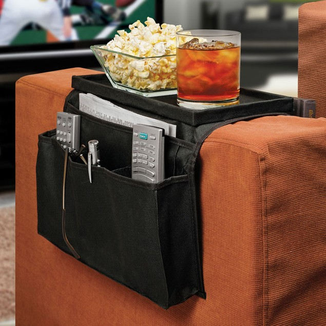 Smartworks 6 Pocket Sofa, Couch with Arm Rest Organizer