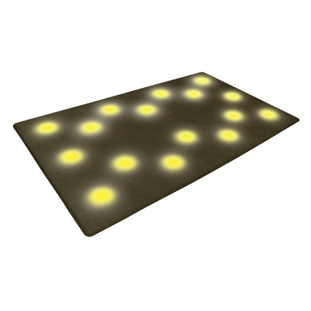 16-LED Step-Activated Lighted Floor Mat