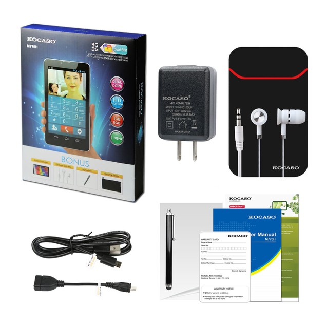 """Kocaso M776H 7"""" 8GB Unlocked 3G Tablet"""