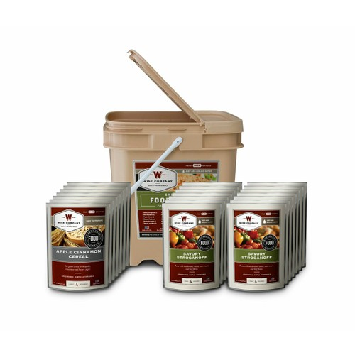 Wise Foods - 84 Serving Breakfast and Entrée Grab and Go Food Kit