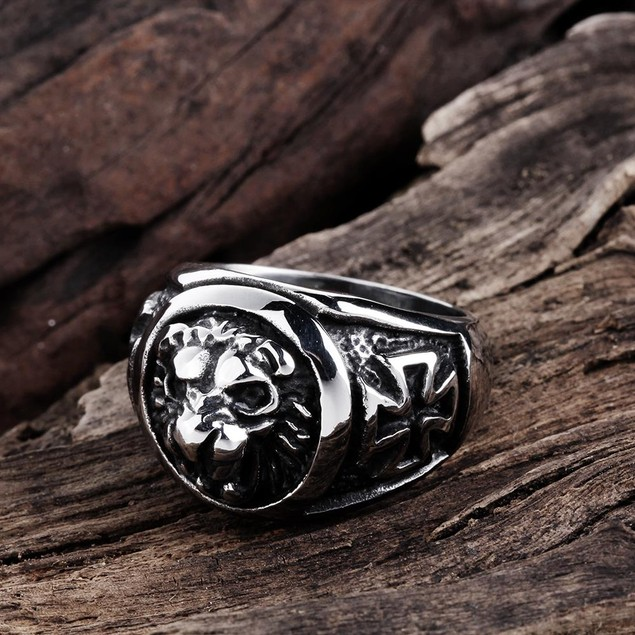 King of the Jungle Stainless Steel Ring