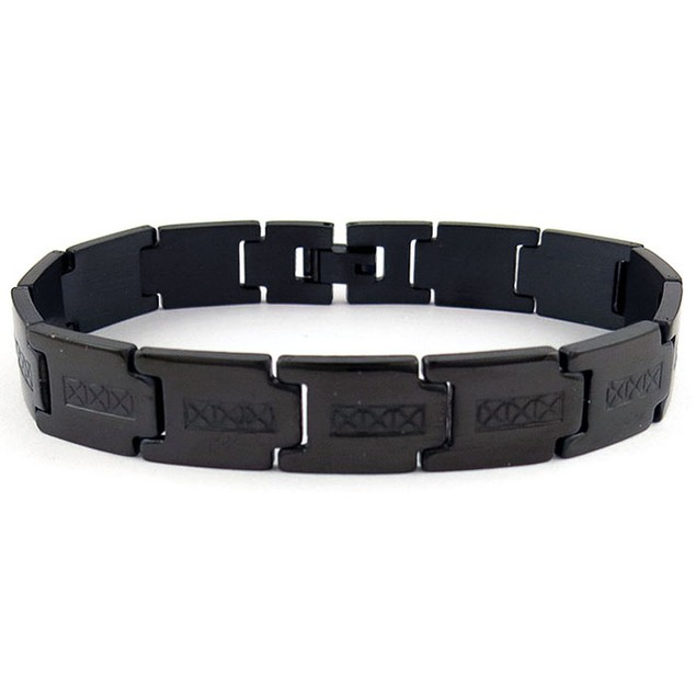 Stainless Steel Back ION Plated Link ID Bracelet