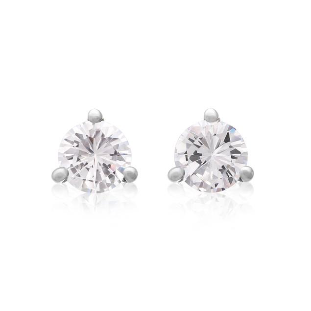 3/4cttw Martini Diamond Stud Earrings