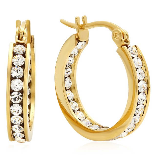 Ladies Elements Hoop Earrings