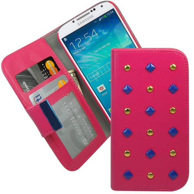 Studded Wallet Folio Case for Samsung Galaxy