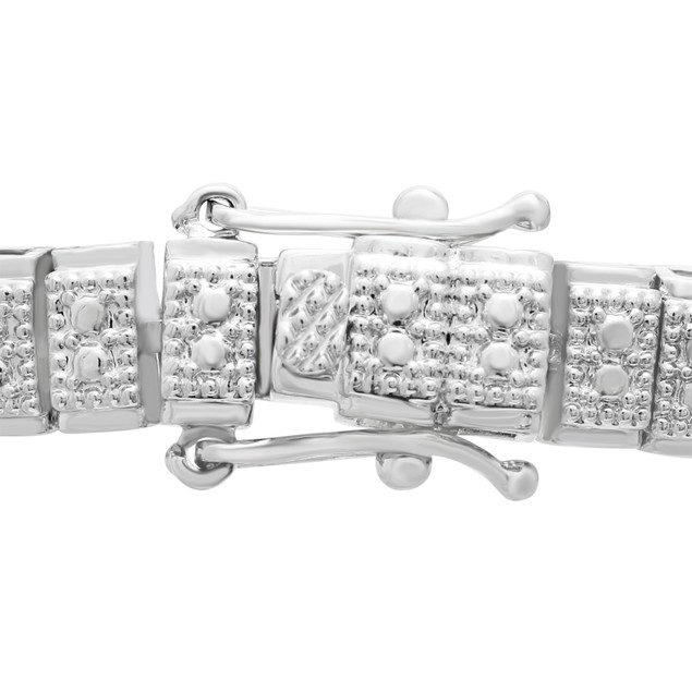 Double Row Diamond Tennis Bracelet 1.05cttw