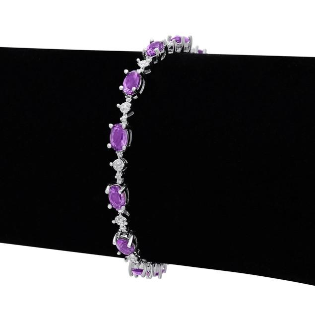 Amethyst and Diamond Bracelet 6.76cttw