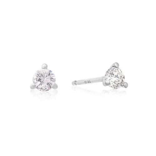 Martini Diamond Stud Earrings 1/4cttw
