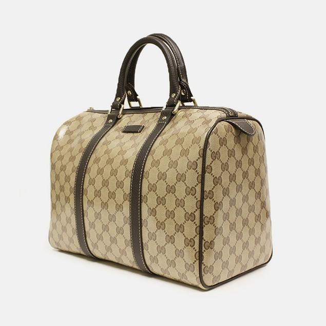 Gucci Crystal Boston Leather Satchel Bag