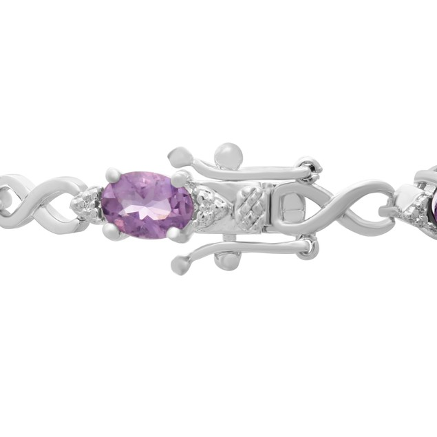 Amethyst and Diamond Bracelet 7.21cttw