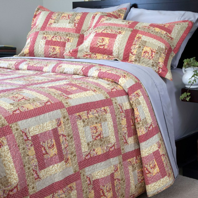 Lavish Home Melissa Quilt 3 Piece Set