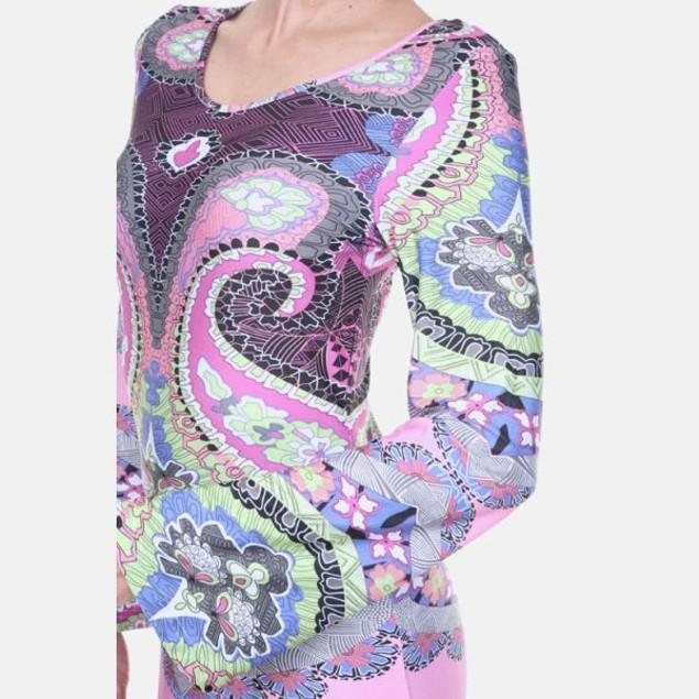 Abigail Purple & Pink Print Dress