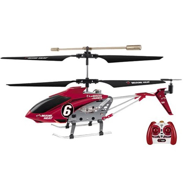 NBA Licensed Miami Heat/LeBron James RC Helicopter