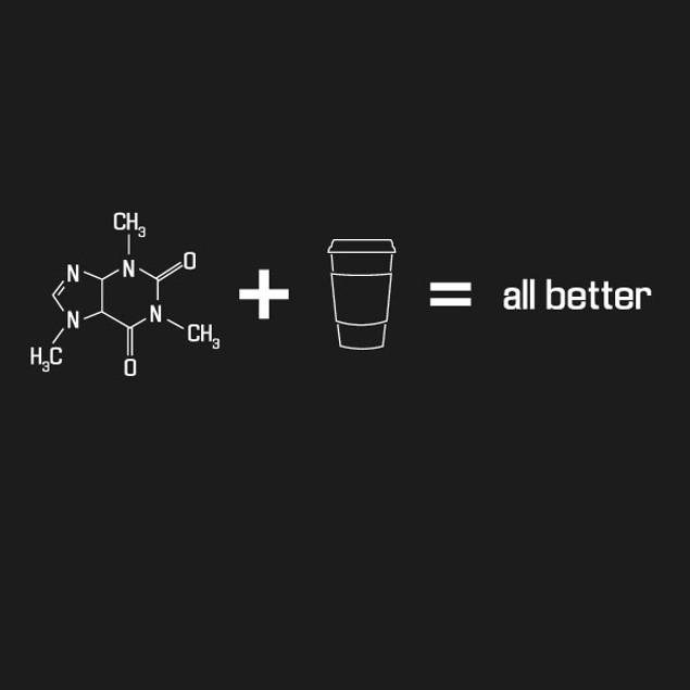 Caffeine + Coffee = All Better T-Shirt