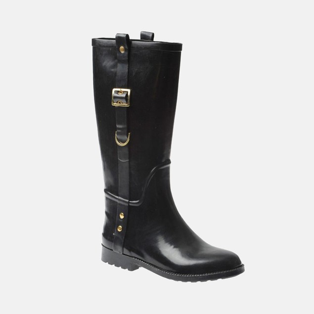 Henry Ferrera Women's Rain Boots - Henry Ferrera Black Scoop