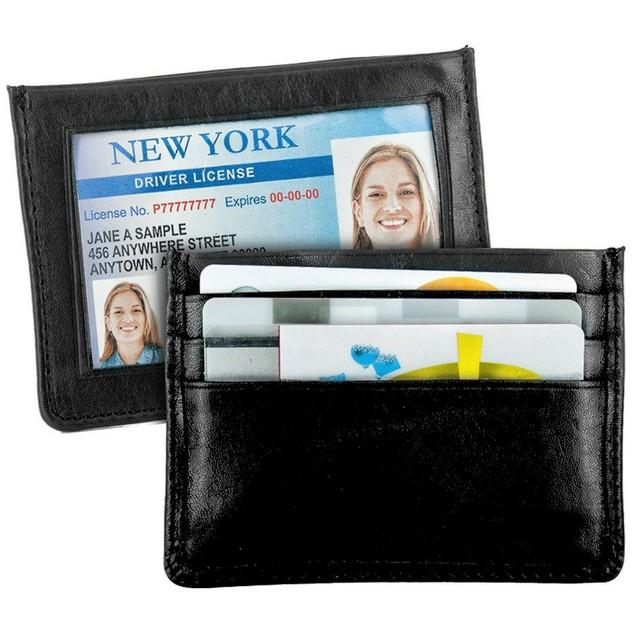 2-Pack Slim Leather Credit Card Holder