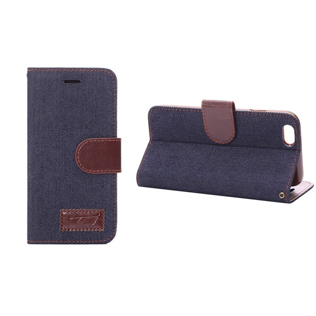 iPM Denim/Leather Stylish iPhone 6 Wallet Case