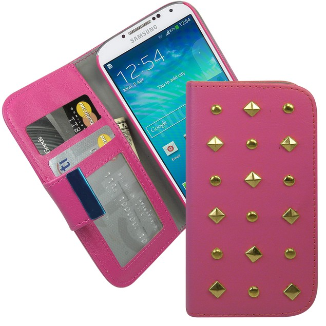 Studded Wallet Folio Case for Samsung Galaxy