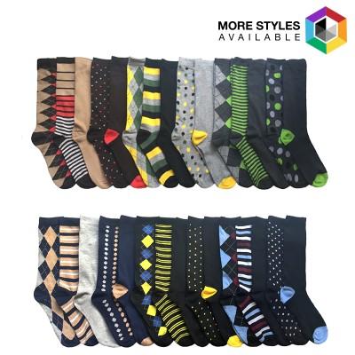 30 Pair: John Weitz Men's Casual Dress Socks