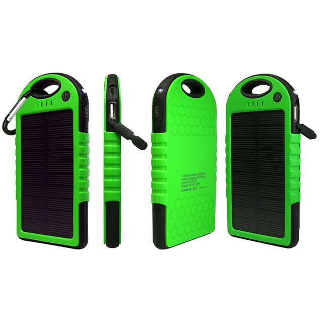 5,000mAh Water-Resistant Solar Smartphone Charger