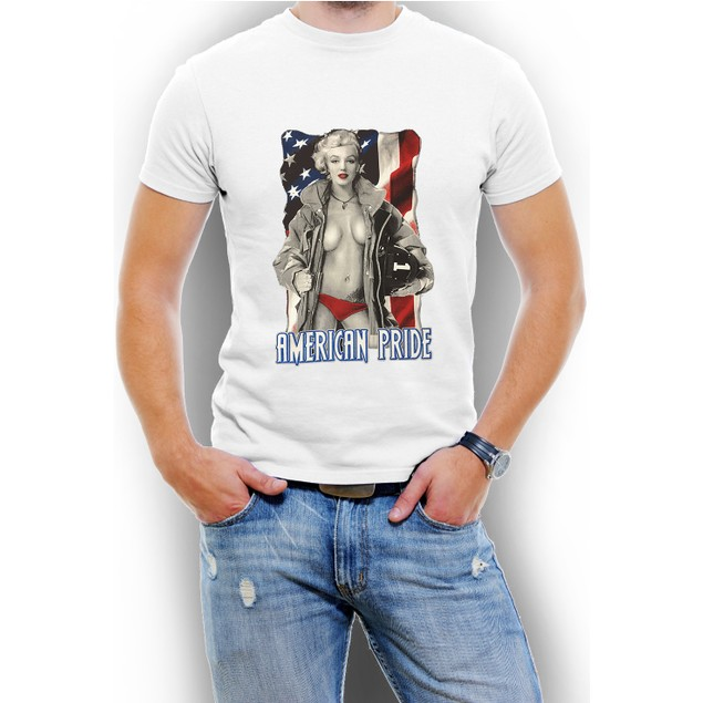 """Marilyn Monroe USA"" Men T-Shirt Assorted Colors"