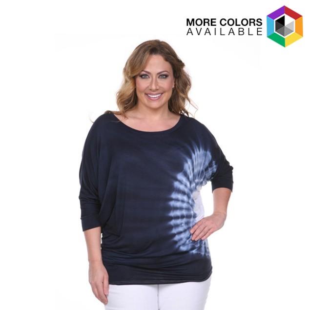 Women's Plus-size Tie Dye Tunic Top