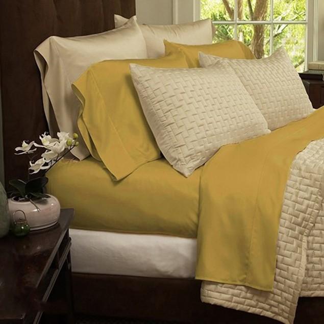 6 Piece: Soft 1800 Series Bamboo Fiber Bed Sheets