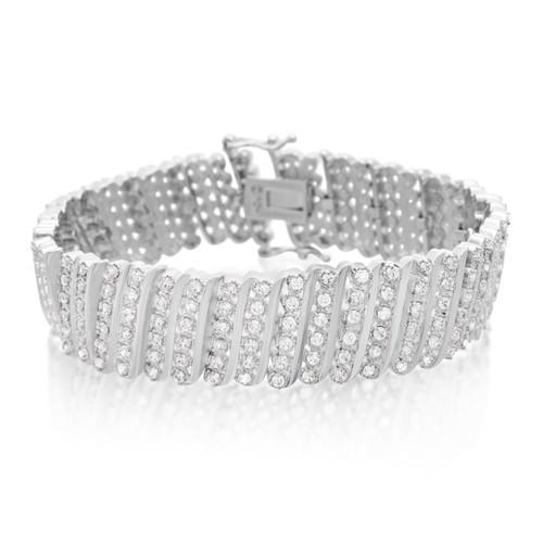 Six Row Diamond Bracelet 1.92cttw