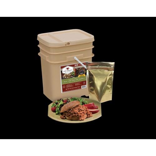 Wise Foods - 60 Serving + 20 Bonus Rice Servings Freeze Dried Meat Bucket