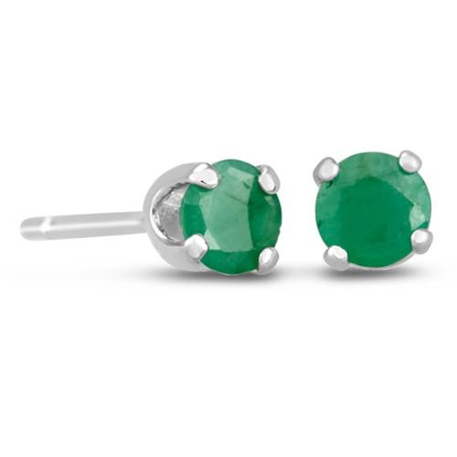 1/2ct Emerald Stud Earrings in Sterling Silver