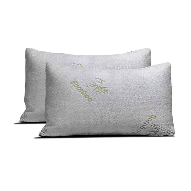2-Pack Bamboo Memory Foam Pillow- Buy 2 & Save