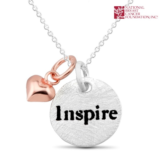 National Breast Cancer Foundation Inspirational Jewelry - Sterling Silver Inspire Pendant