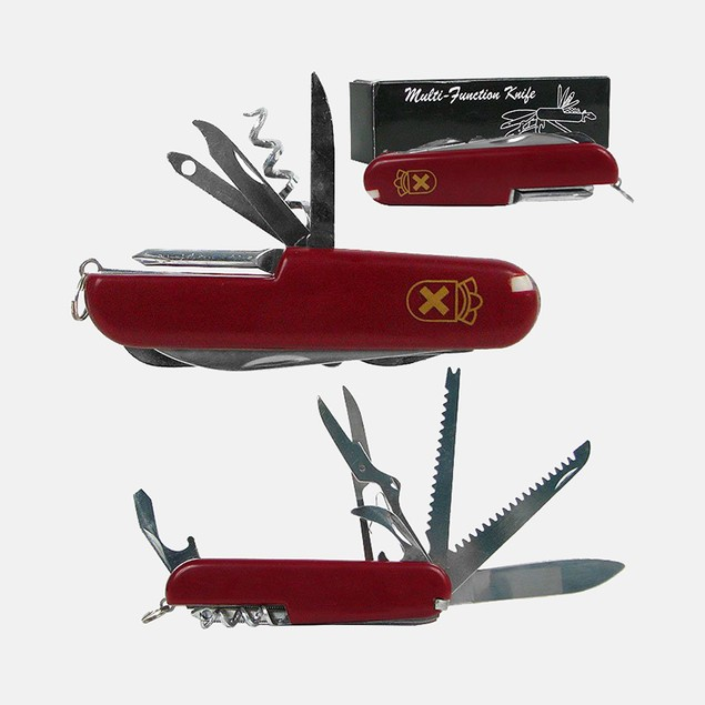 Whetstone Red 13 Function Swiss Type Army Knife - 3.5 Inche
