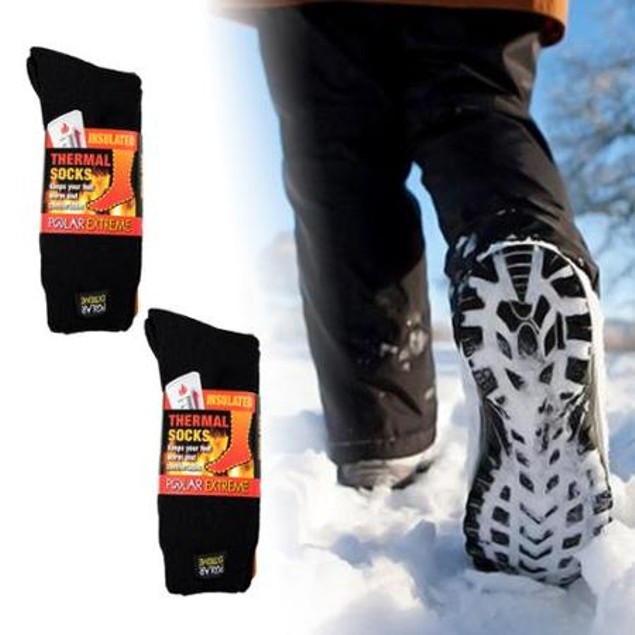 2 Pairs Polar Extreme Thermal Insulated Boot Socks