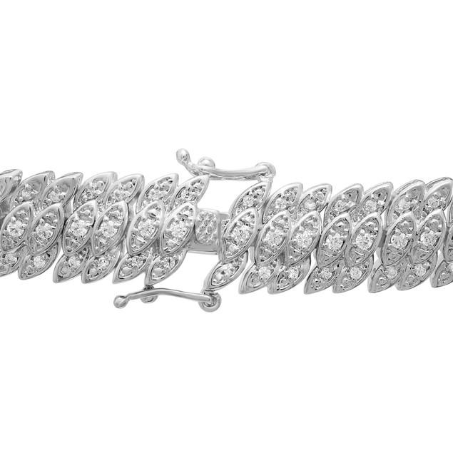 Diamond Tennis Petal Bracelet 2.09cttw