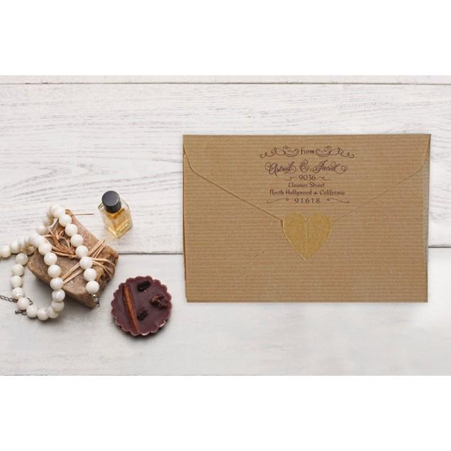 return address stamp for wedding invitations save the dates