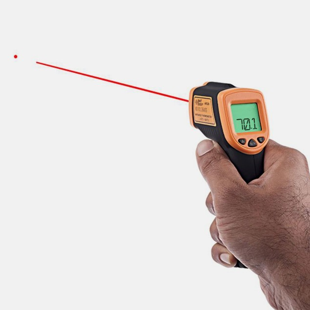 2 in 1 Tool: Thermal Leak Detector + Infrared Thermometer