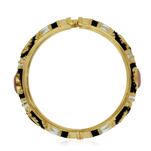 Gold Plated Japanese Inspired Enamel Bracelet