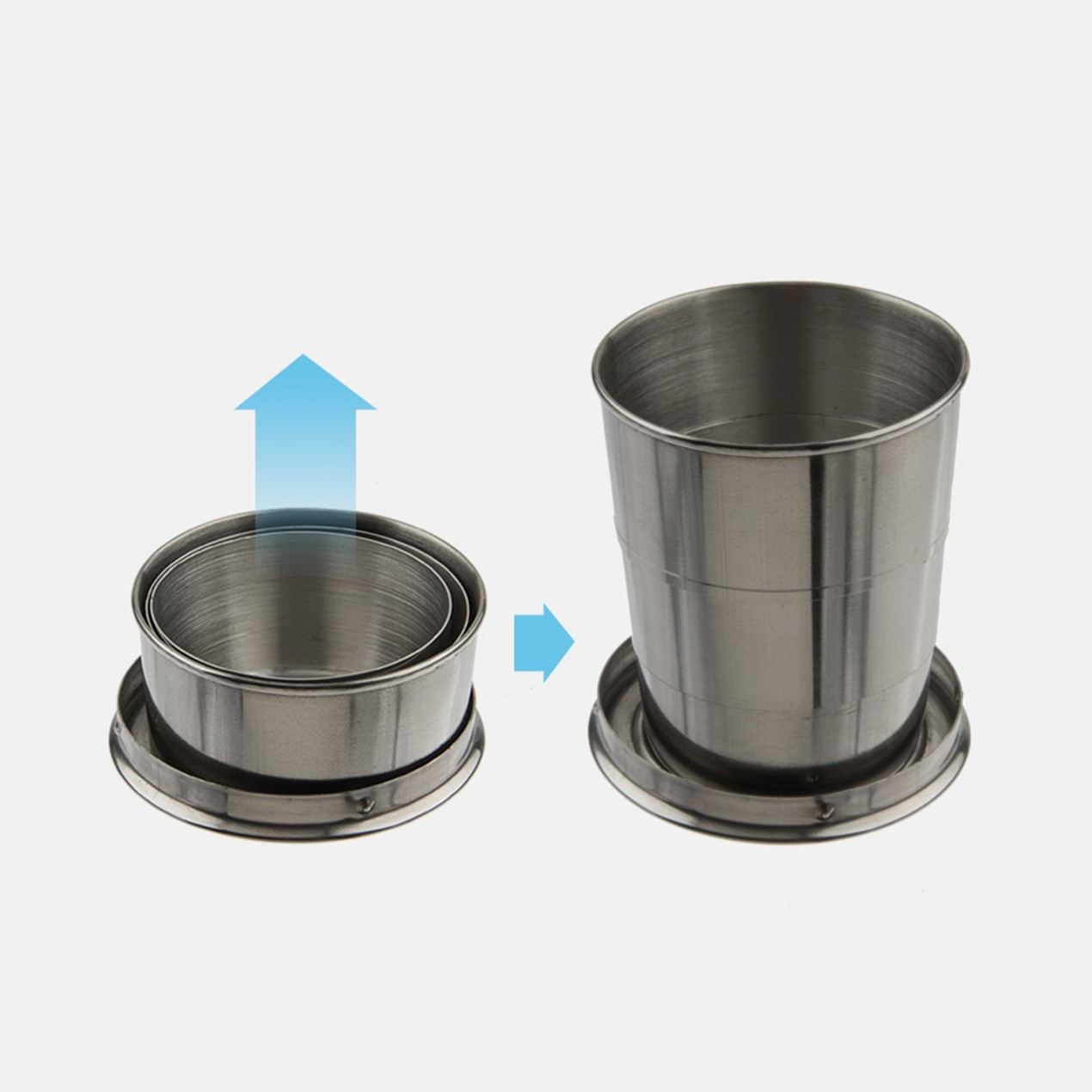 2pk Expedition Stainless Steel Collapsible Cup Tanga Travel
