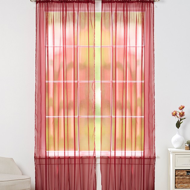 """4-Piece Sheer Panel with 2"""" Rod Pocket"""