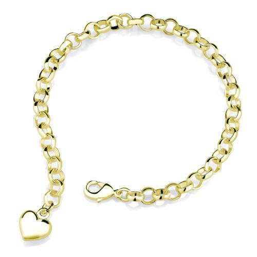Gold Plated Designer Inspired Charm Bracelet